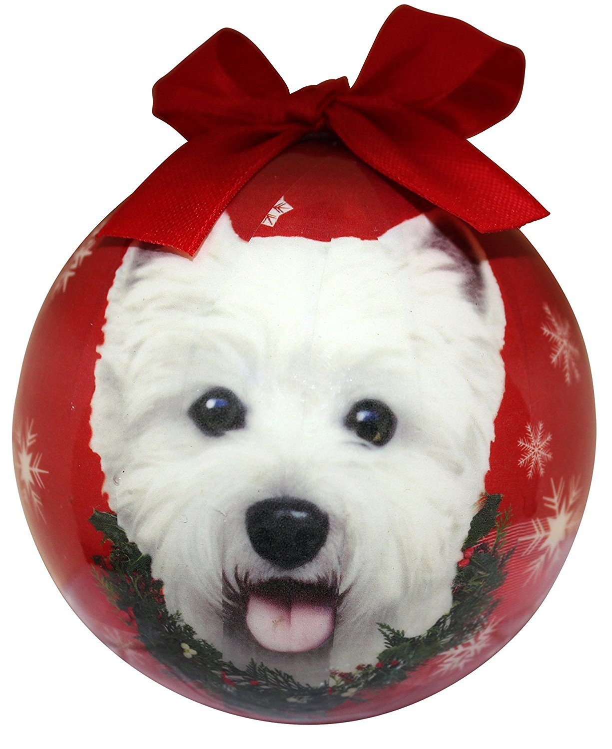 Westie Christmas Ornament Shatter Proof Ball