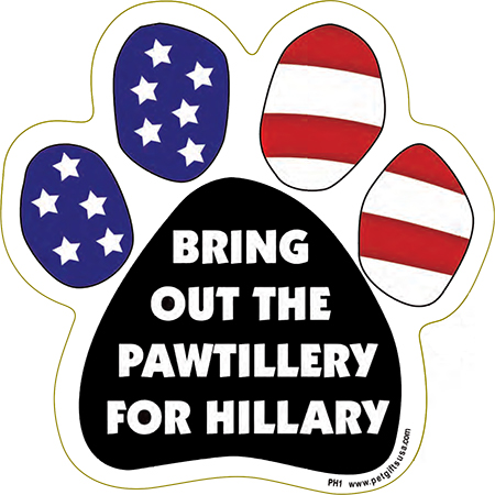 Political Paws Magnets Bring Out The Pawtillery For Hillary