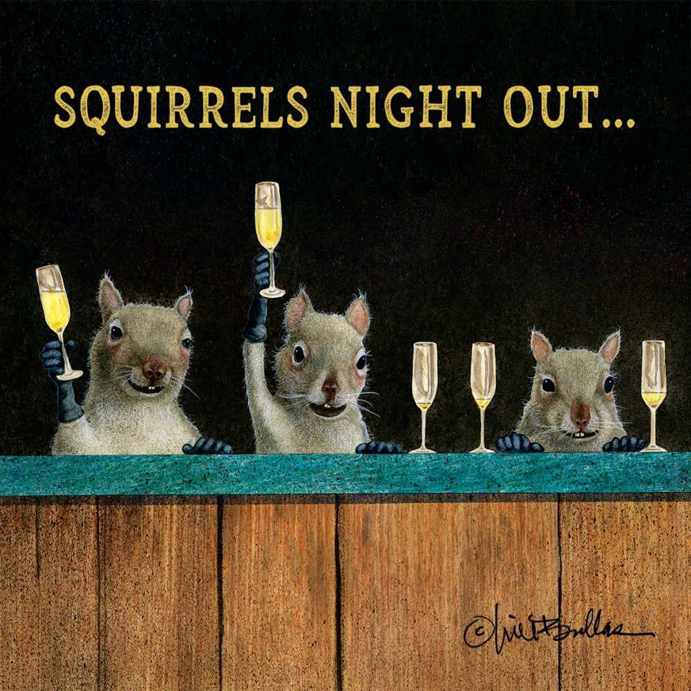 SQUIRRELS NIGHT OUT BEVERAGE NAPKINS
