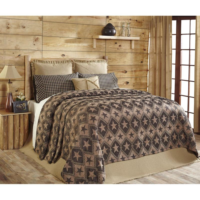 Jefferson Star King Chenille Woven Coverlet 114x103