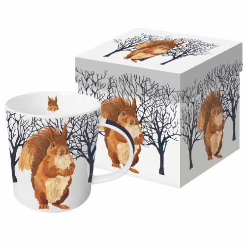 WINTER SQUIRREL GIFT BOXED MUG