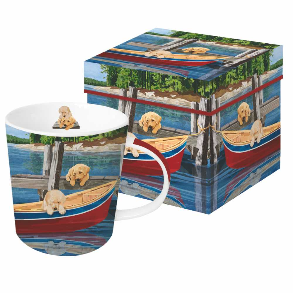 LAKESIDE PUPPIES GIFT-BOXED MUG