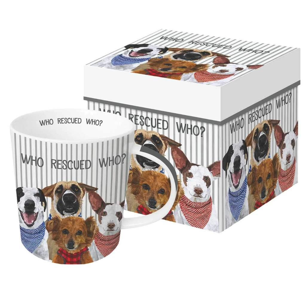 Who Rescued Who? Gift-Boxed Mug
