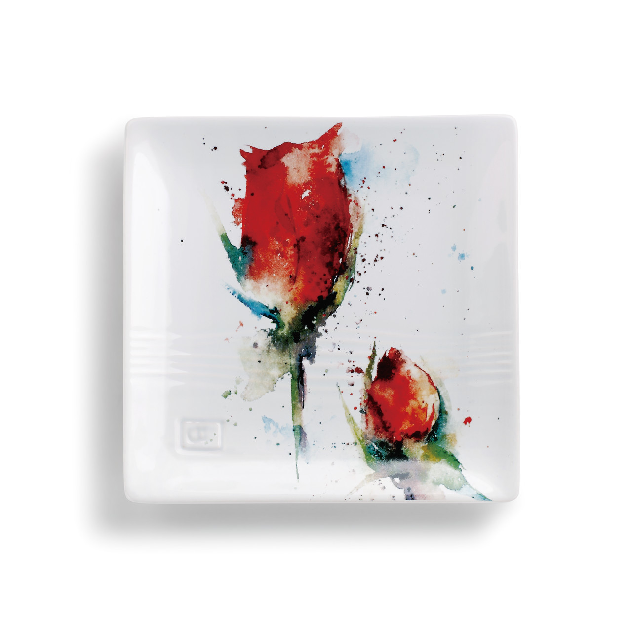 Red Rose Snack Plate
