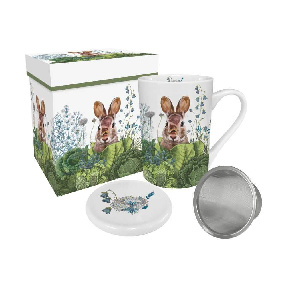 Chou Chou Bunny Gift-Boxed Tea Mug with Lid & Strainer