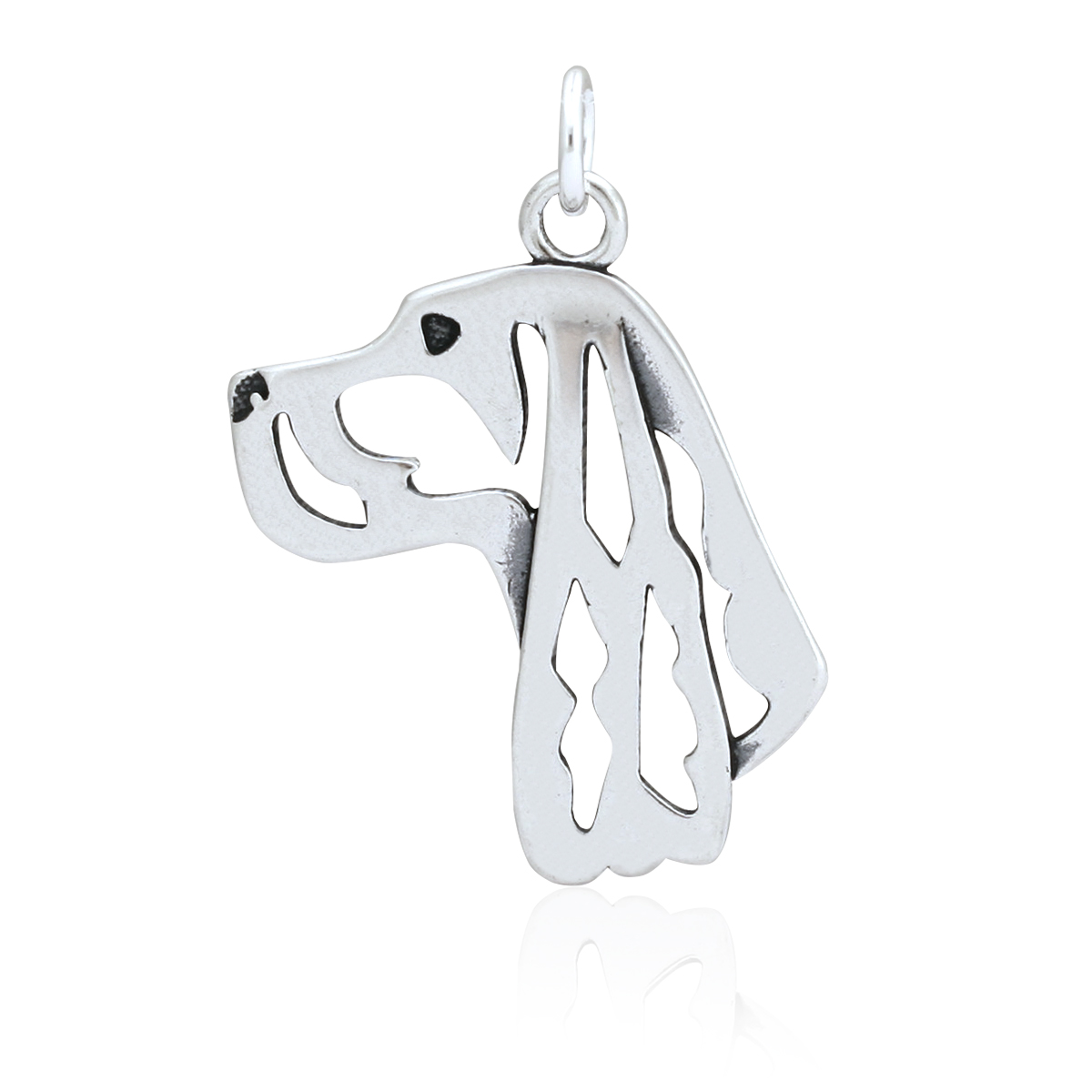 Sterling Silver Gordon Setter Pendant, Head