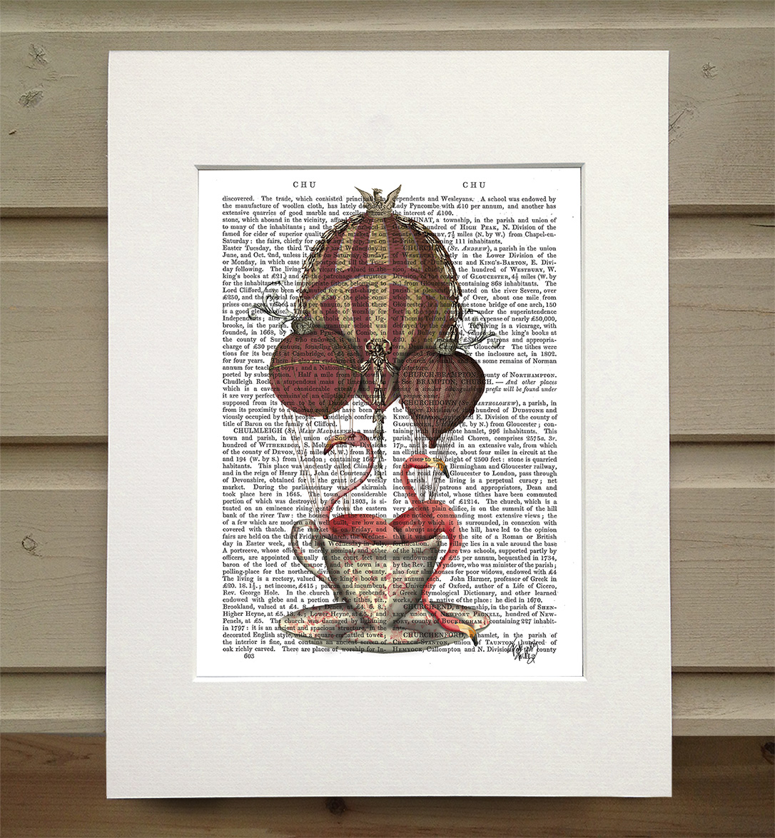 Flamingos in Teacup, Book Print