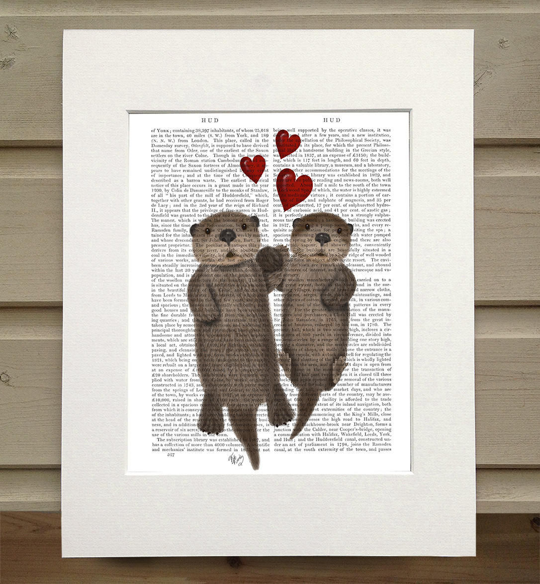 Otters Holding Hands, Book Print