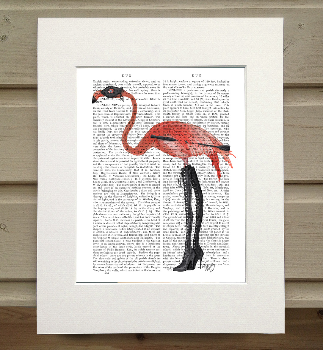 Flamingo with Kinky Boots, Book Print