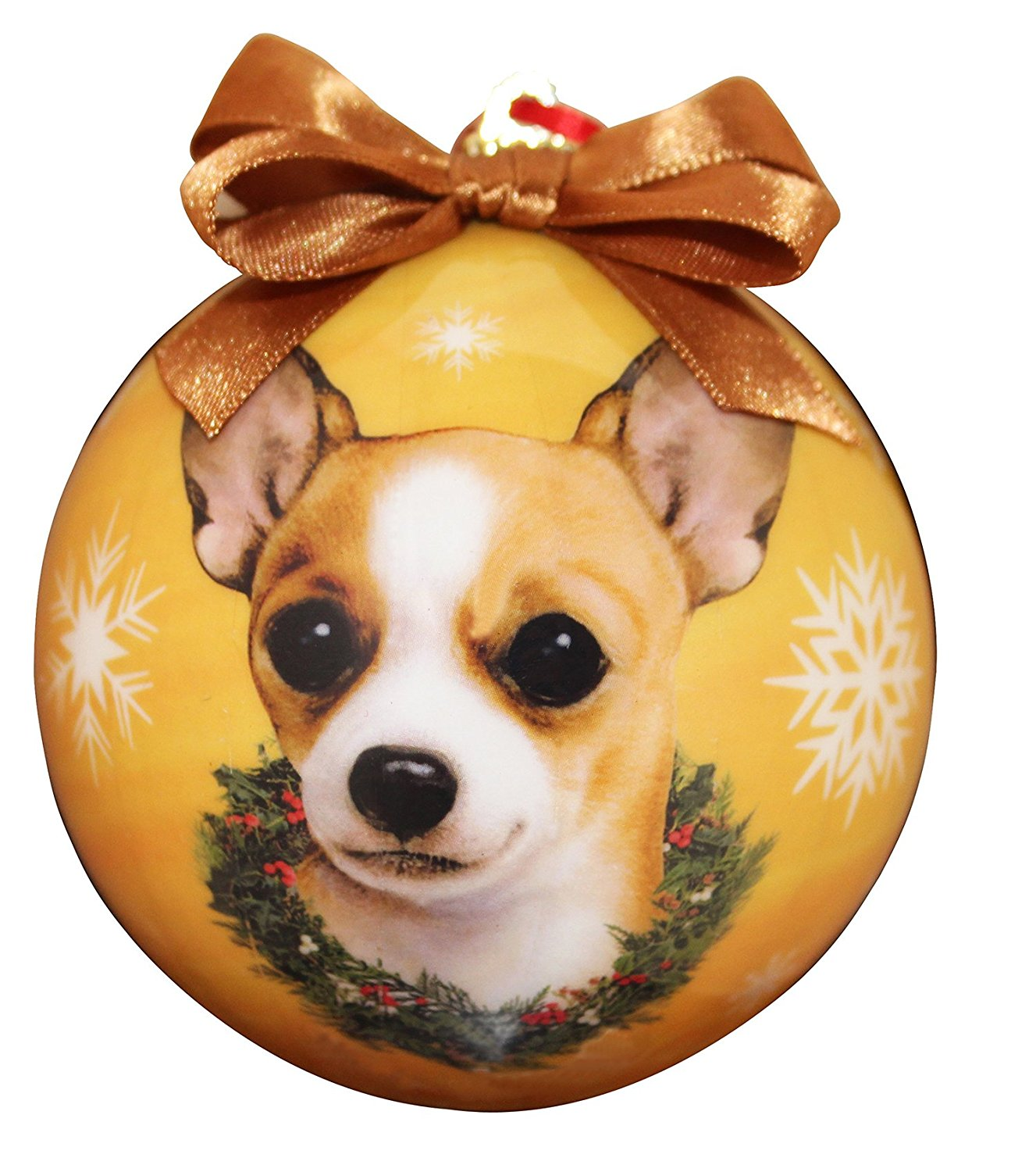 Chihuahua(Tan) Christmas Ornament Shatter Proof Ball