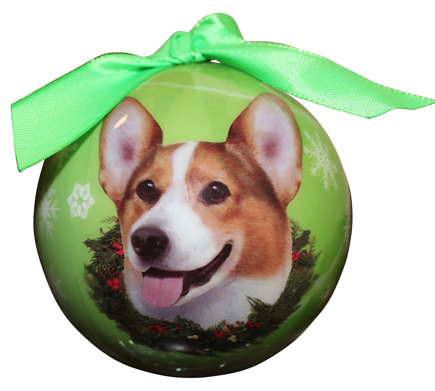 Welsh Corgi Christmas Ornament Shatter Proof Ball
