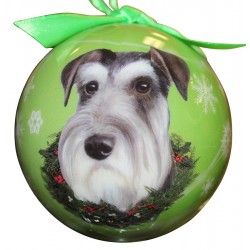 Schnauzer (uncropped)Christmas Ornament Shatter Proof Ball