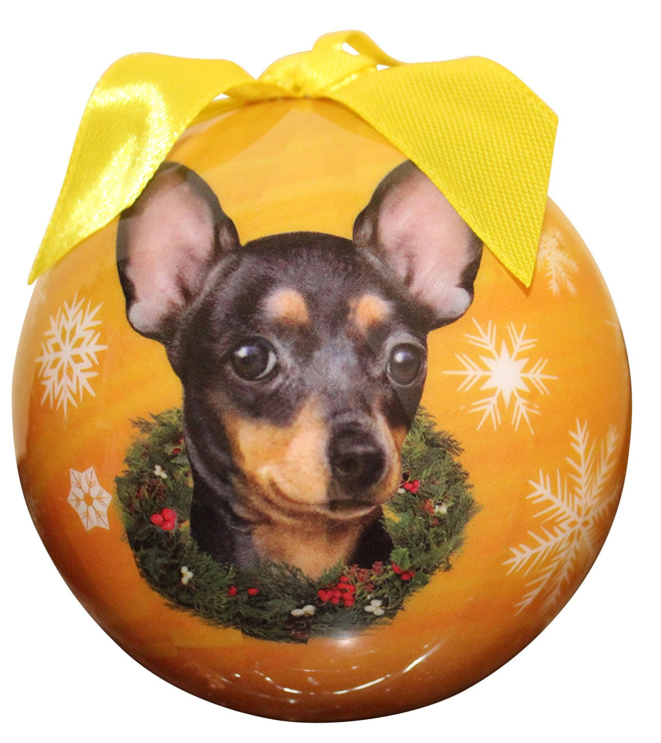 Chihuahua(Black) Christmas Ornament Shatter Proof Ball