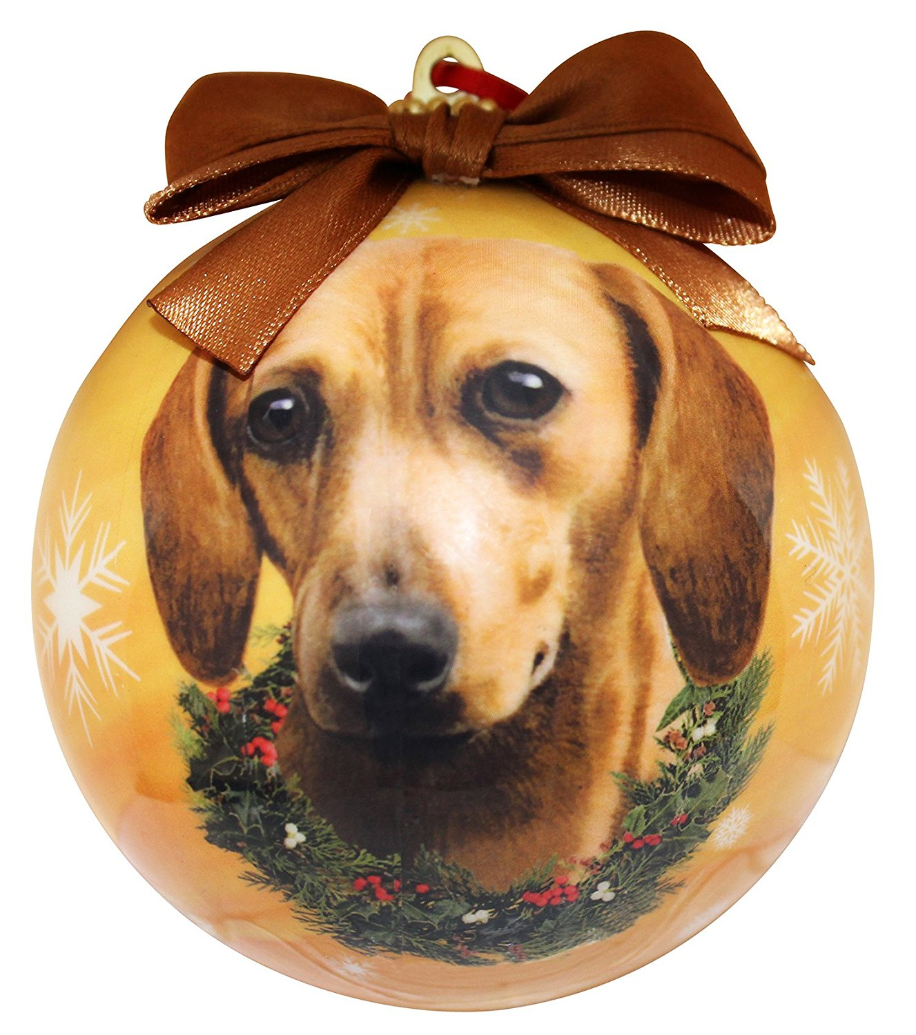 Dachshund(Red) Christmas Ornament Shatter Proof Ball