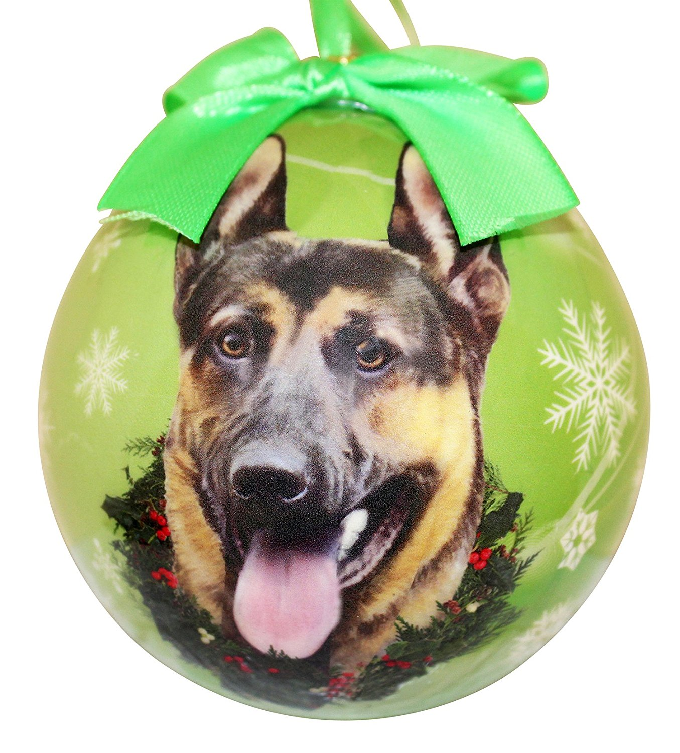German Shepherd Christmas Ornament Shatter Proof Ball