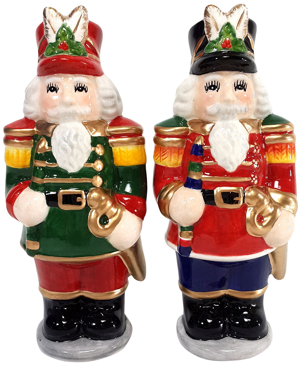 Cosmos Gifts Ceramic Nutcracker Salt and Pepper Set