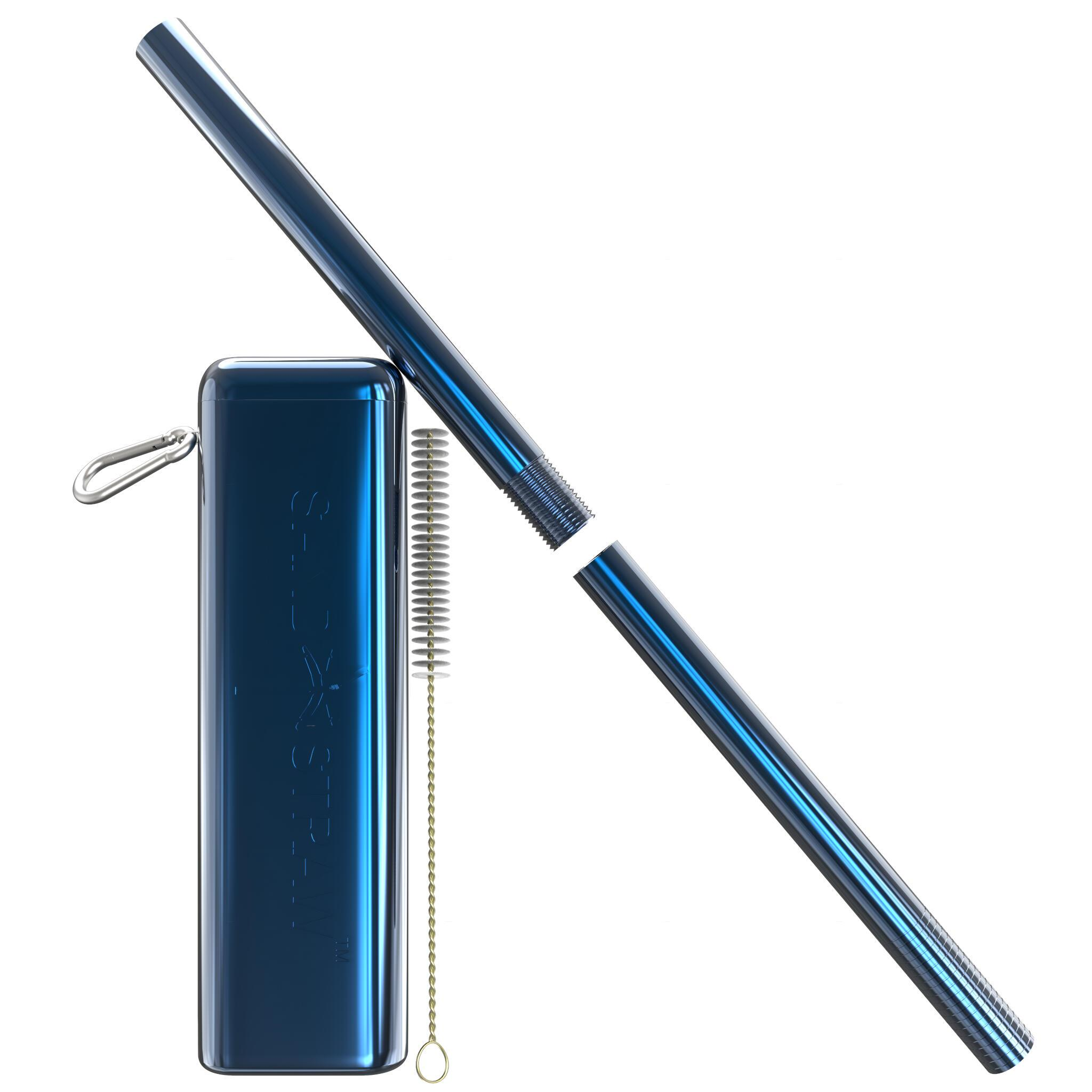 Collapsible Straw Dolphin/Blue