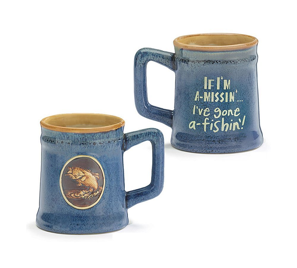 Burton & Burton I'm Gone Fishin' Ceramic Coffee Mug, 18 oz.