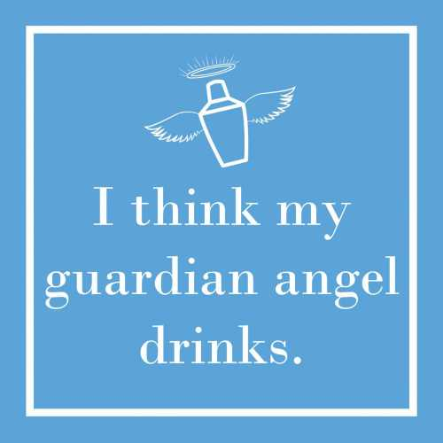 MY GUARDIAN ANGEL BEVERAGE NAPKINS