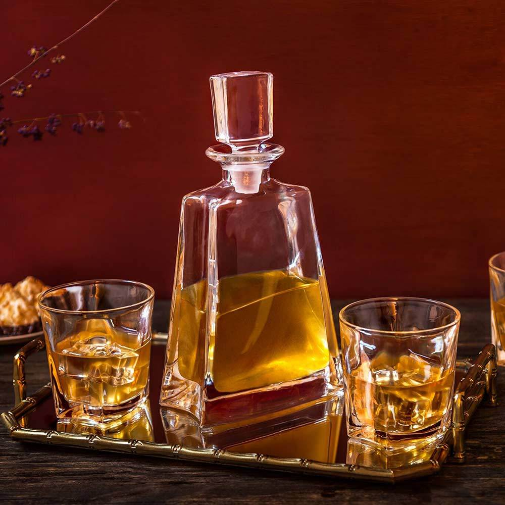 Luna Decanter Set w/ 4 Whiskey Glasses