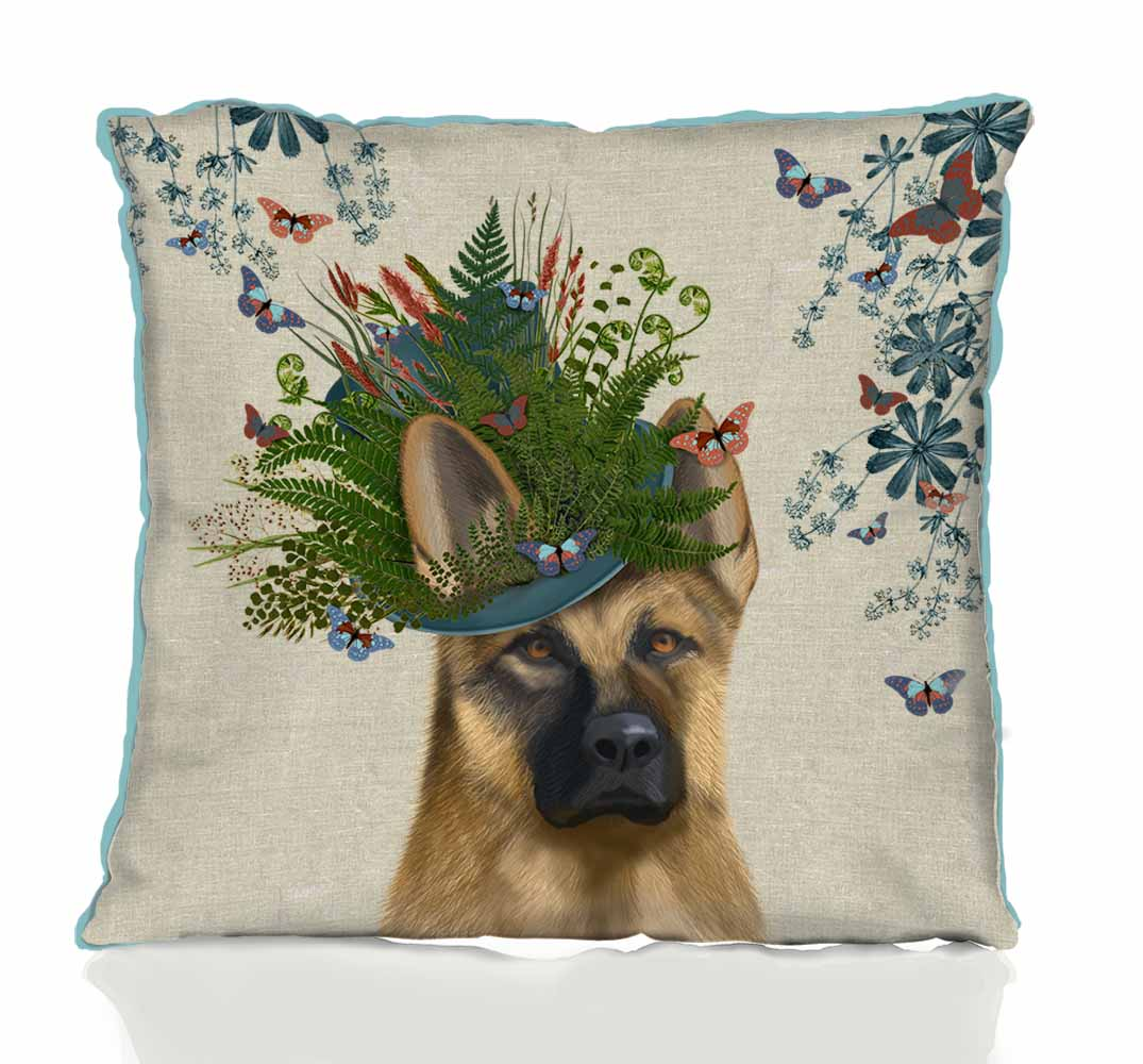 German Shepherd Milliners Dog Pillow