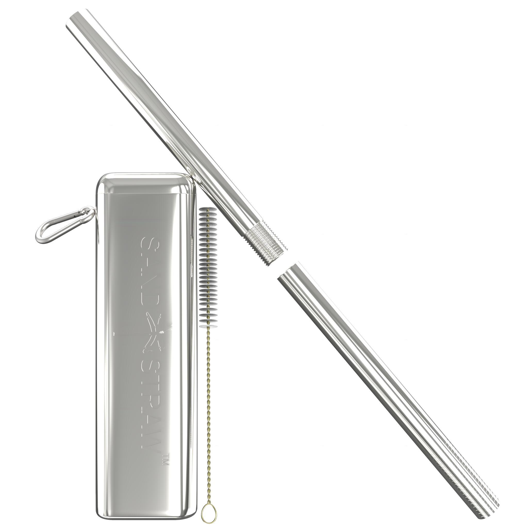 Collapsible Straw Shark/Silver