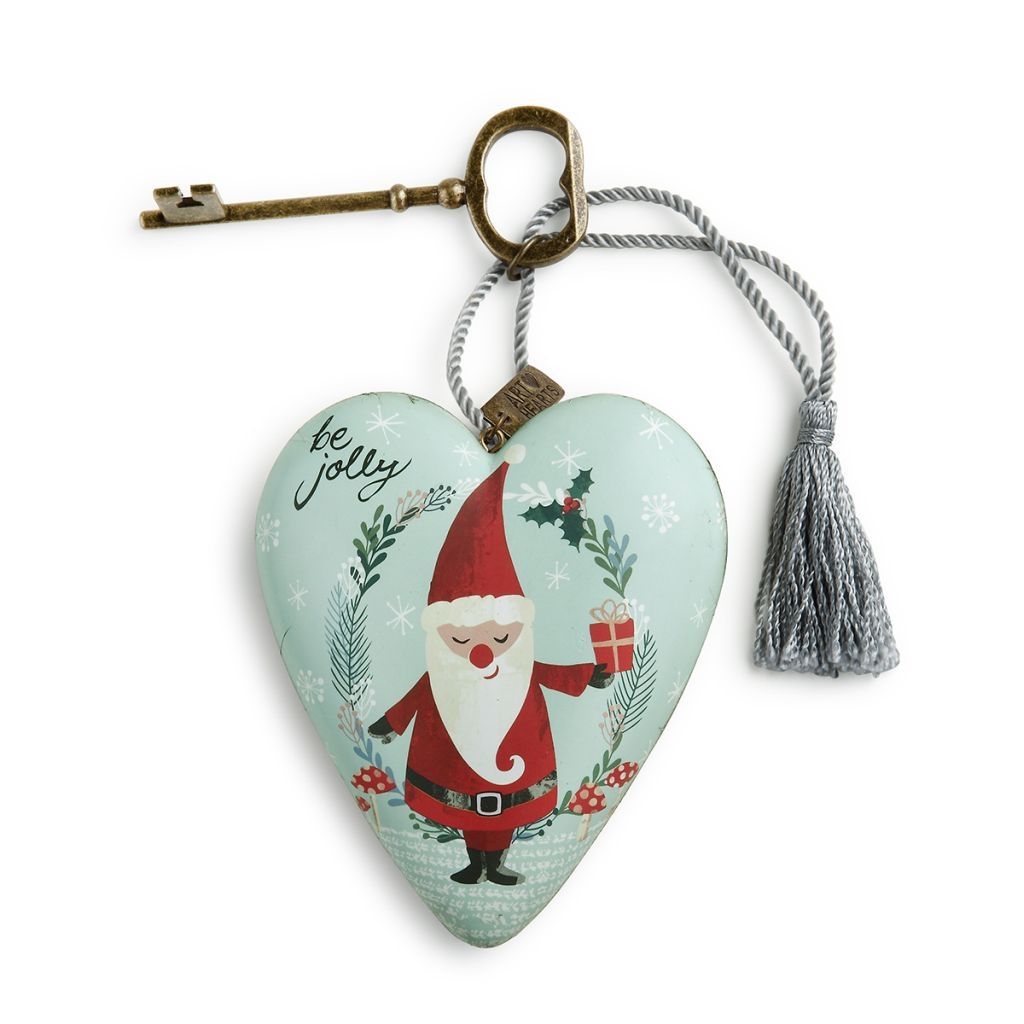 Be Jolly Santa Art Heart