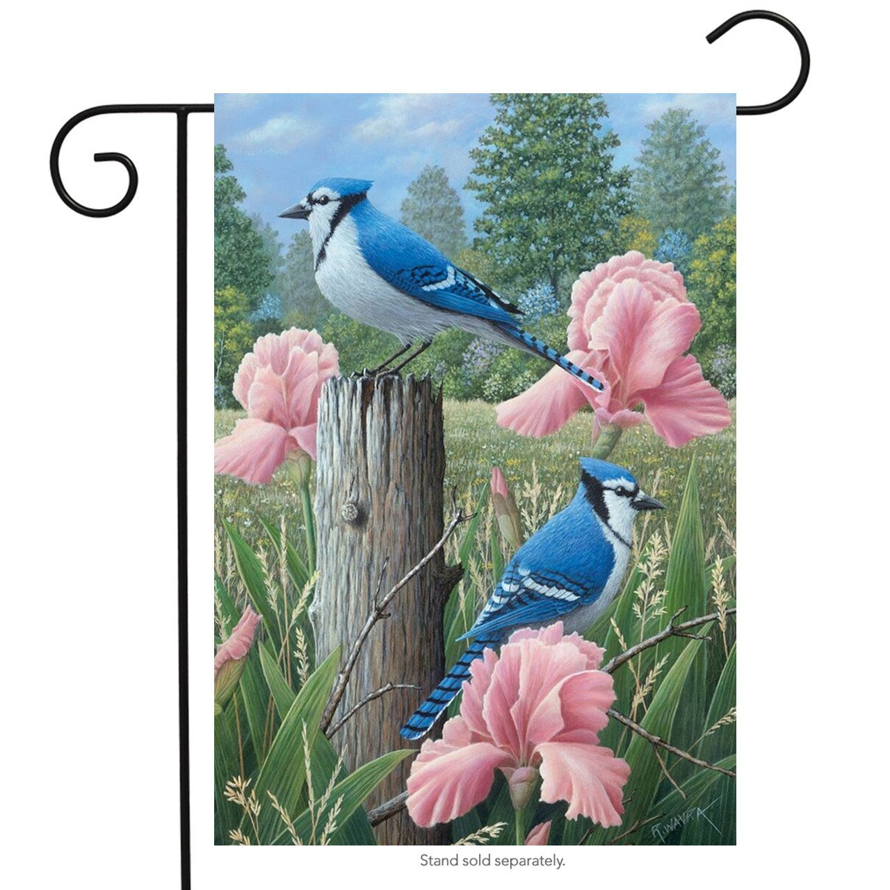 Blue Jays Spring Garden Flag Welcome Floral