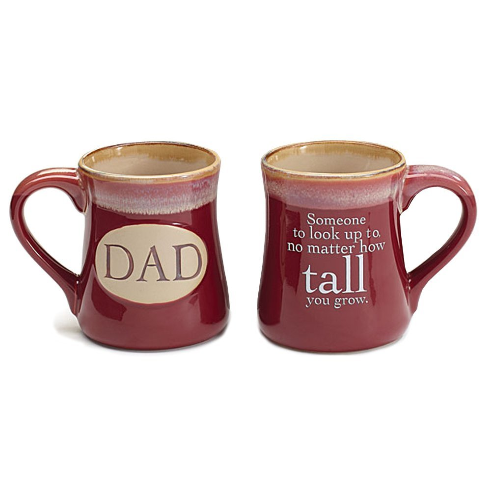 Dad Ceramic 18 oz. Coffee Mugs with Inspirational Message