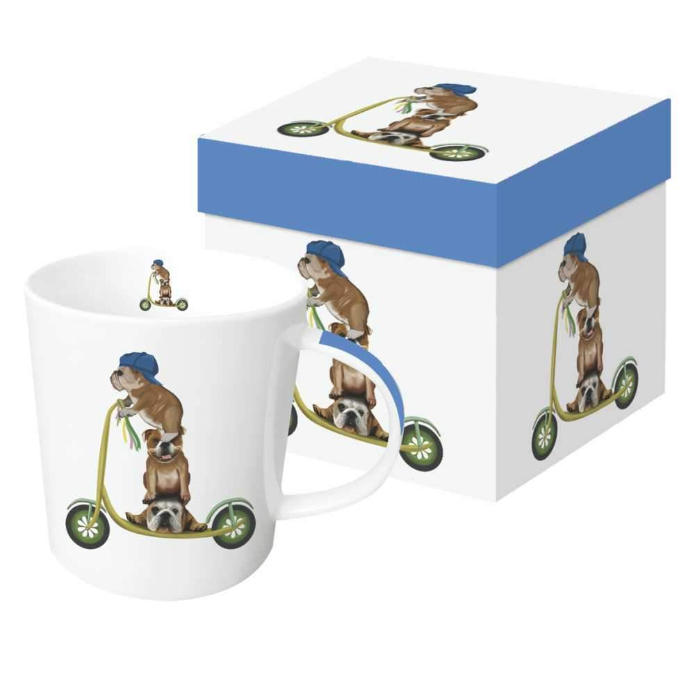 Scooter Dogs: English Bulldogs Gift-Boxed Mug