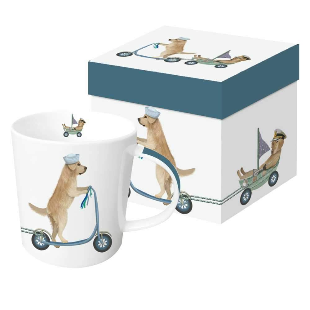 Scooter Dogs: Golden Retrievers Gift-Boxed Mug