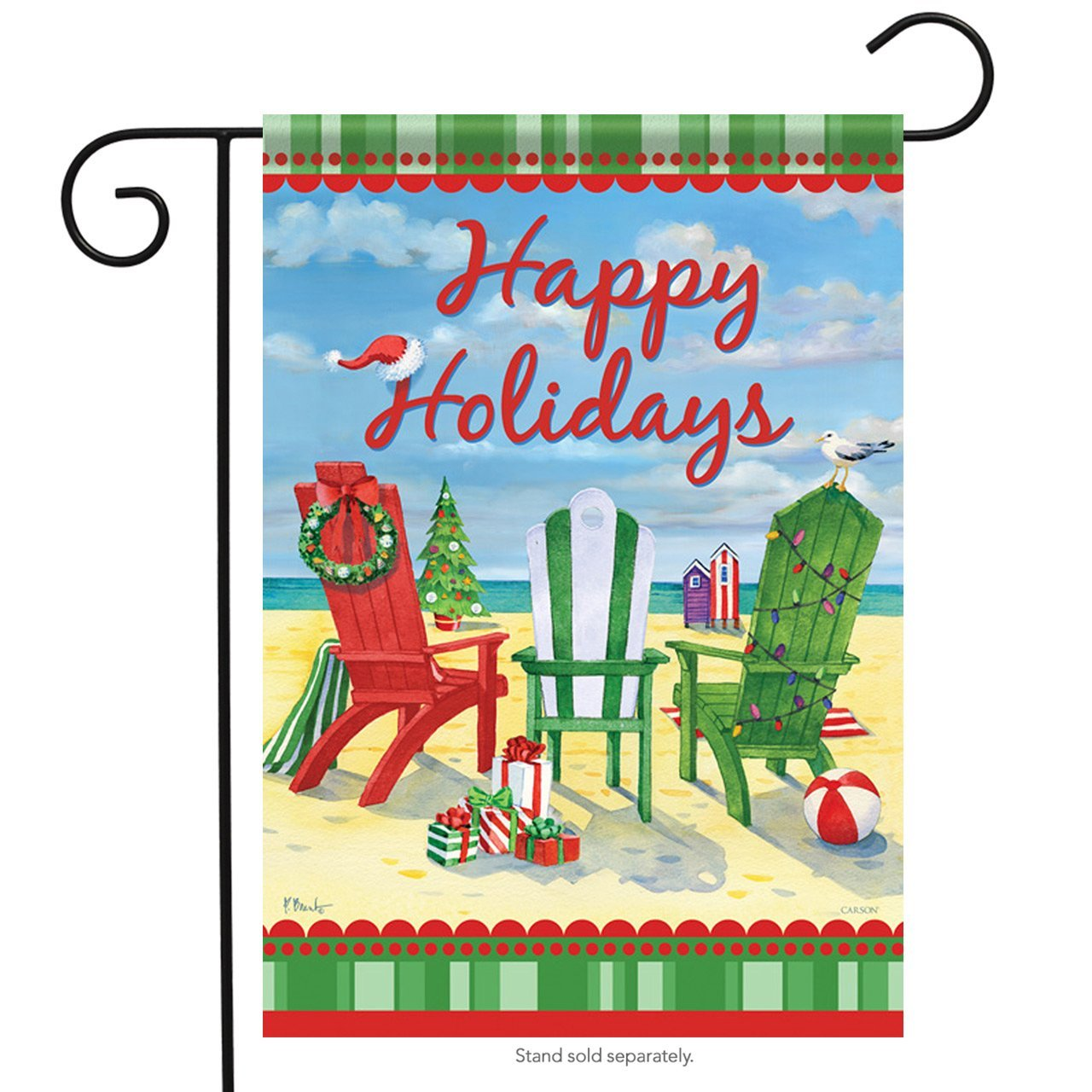 Carson Holiday Beach Chairs Garden Flag